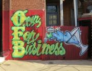 Open For Business Grafitti